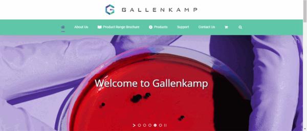GallenkampWebpageScreenshot